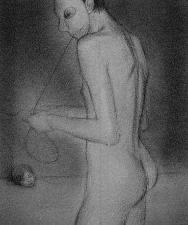 Marc Hulson Untitled 2013 graphite on paper 18x15cm