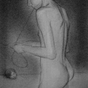 Marc Hulson Untitled 2013 graphite on paper 18x15cm